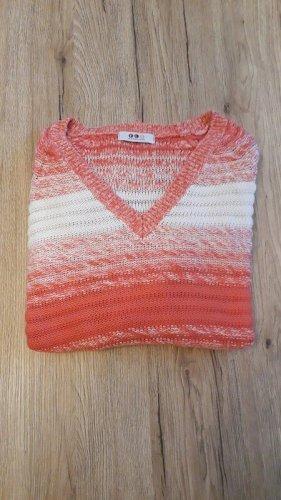 FlashLights Maglione lavorato a maglia rosso-bianco