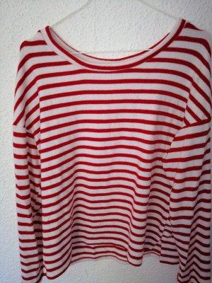 Rot/Weiß Streifen Pulli