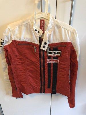 Freeman t. porter Veste motard rouge-blanc