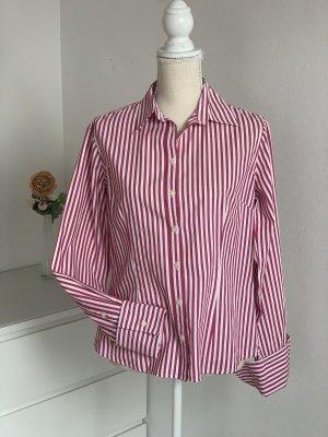 Rot-weiße Langarm Hemd-Bluse