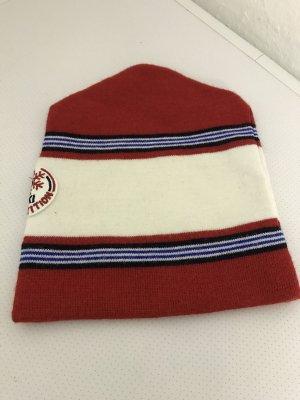 Chapeau en tissu blanc-rouge