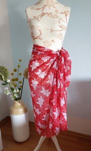 Tenue de plage blanc-rouge polyester