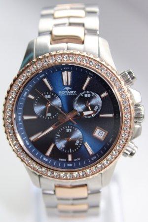 Rotary Zegarek z metalowym paskiem Wielokolorowy