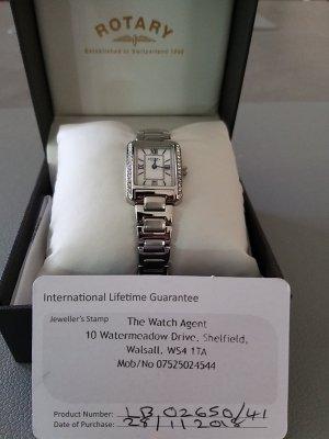 Rotary Montre avec bracelet métallique gris clair métal