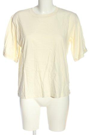 ROTATE Birger Christensen T-Shirt wollweiß-hellorange Motivdruck Casual-Look