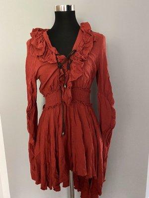 Rotbraunes Kleid von Keer Qualen, Gr. M