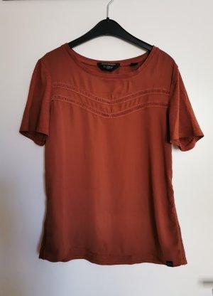 Maison Scotch T-shirt cognac-marrone-rosso
