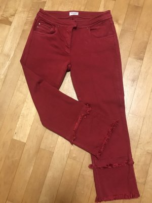 René Lezard 3/4 Length Jeans dark red