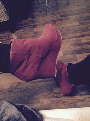 Rote Absatz Schuhe Größe 40