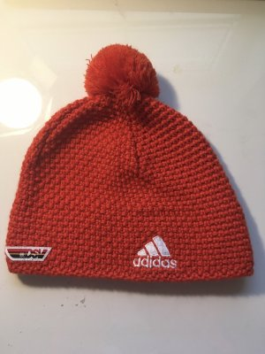 Adidas Gehaakte muts rood-wit