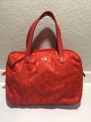 Rote Aigner Handtasche Nylon