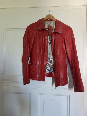 Milestone Leather Jacket red-silver-colored leather