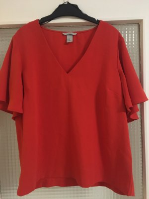 H&M Oversized Blouse red