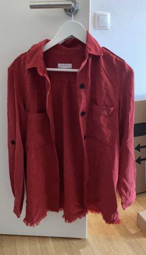 Rote Bluse/dünne Hemdjacke