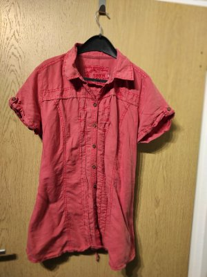 Soccx Linen Blouse bright red