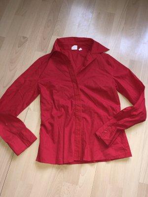 Rote Bluse mit Bestickungen von MANGO Gr S neuw
