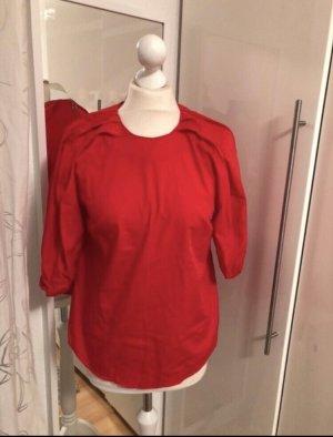 Rote Bluse mit Puffärmeln rot h&m Trend