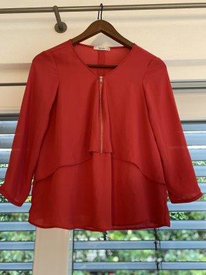 Bershka Blusa in seta rosso-rosso lampone