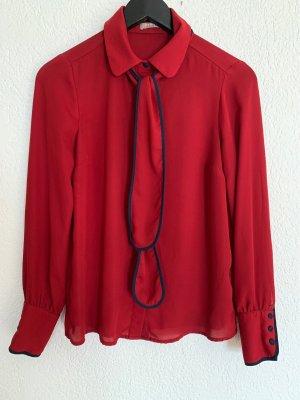 Orsay Blusa con lazo rojo oscuro