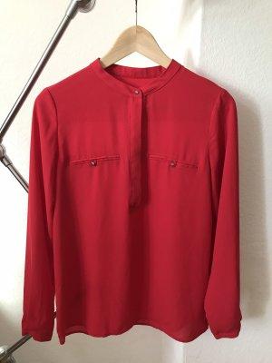 Rote Bluse ohne Kragen Mango xs