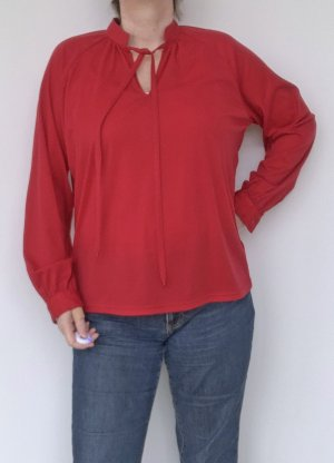 Lucia Blouse à manches longues rouge polyester