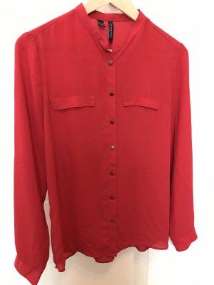 Mango Blusa de manga larga rojo