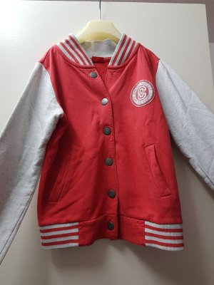 CFL Giacca college bianco-rosso