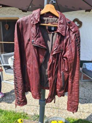 Tigha Leather Jacket bordeaux