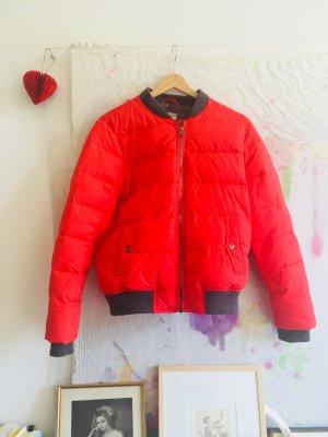 Rote Daunen Jacke ** Bomber ** Blouson