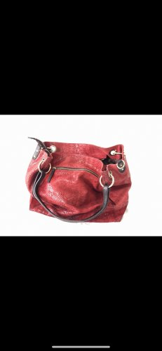 0039 Italy Torebka typu worek czerwony