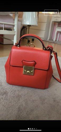 Rote Echtleder Tasche