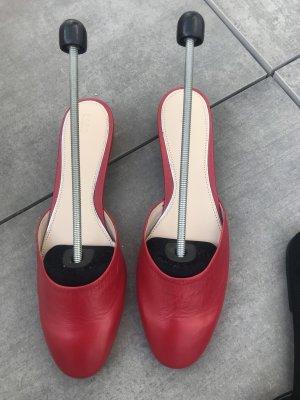 Zara Woman Sabot rouge foncé