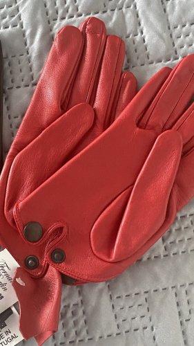 Fernando Berlin Leather Gloves red