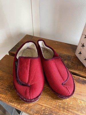 Schawos Pantoufles-chaussette rouge brique tissu mixte