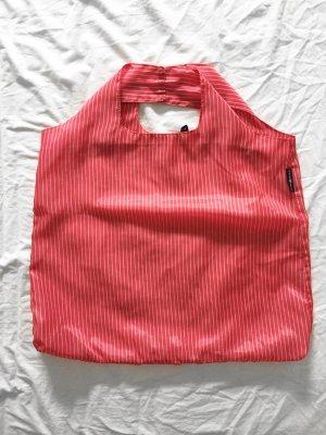 Rote gestreifte Stofftasche von Rossmann Ideenwelt