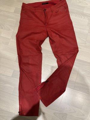 Marc Cain Jeans stretch rouge coton
