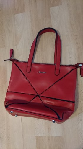 Aniston Handbag black-red