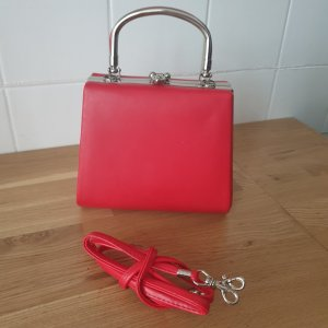 Rote Hardcase Koffer Clutch Party Cocktail Neu! VINTAGE