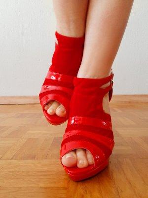 Rote High Heels Peeptoes