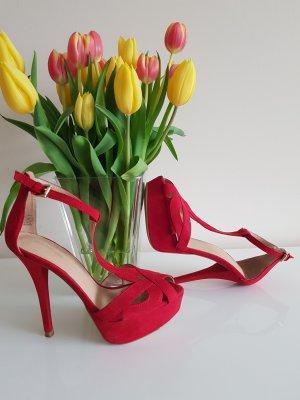 Zara Escarpin à plateforme rouge