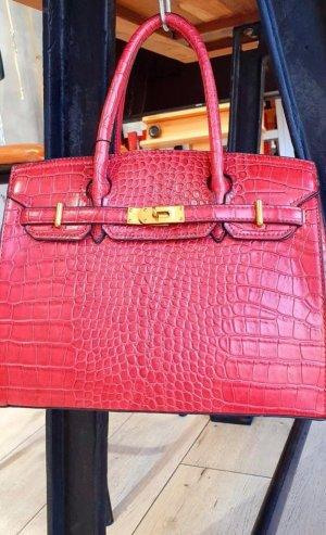 Rote hochwertige Handtasche in rot