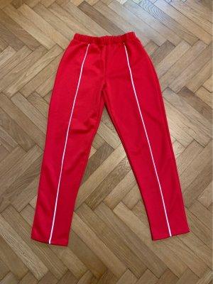 Pull & Bear Pantalón deportivo rojo