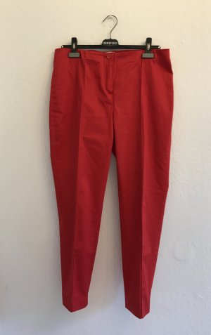 Christian Berg Peg Top Trousers brick red cotton