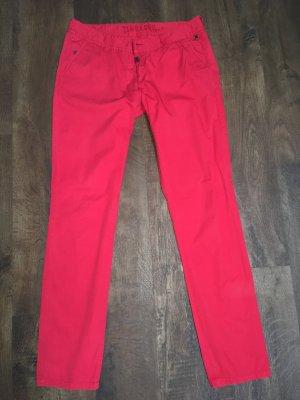 Timezone Pantalón tipo suéter rojo