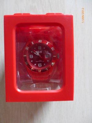 rote Ice Watch originalverpackt ungetragen