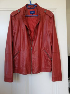 Cecil Faux Leather Jacket red
