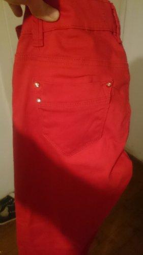 Pantalone a sigaretta rosso