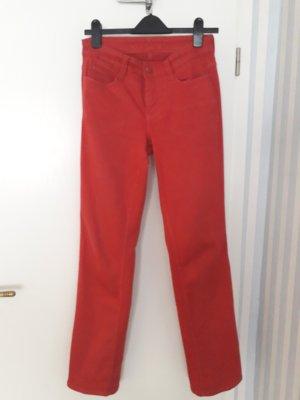 MAC Jeans Jeansy z prostymi nogawkami czerwony Bawełna