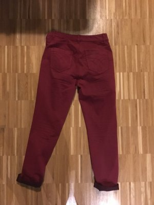 Oui Low Rise jeans donkerrood