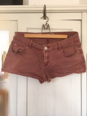 Rote Jeans-Shorts